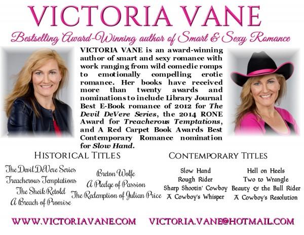 Victoria Vane Author bio